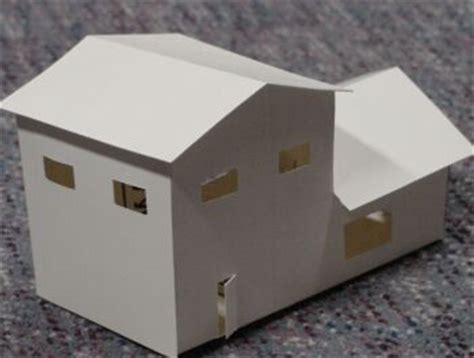 How To Make A House Using Paper - paper model houses
