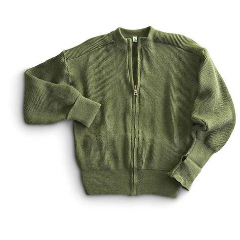 Sweater Loreng Gurun Sweater Army new swedish surplus zip sweater olive drab 190488 sweaters at sportsman s guide