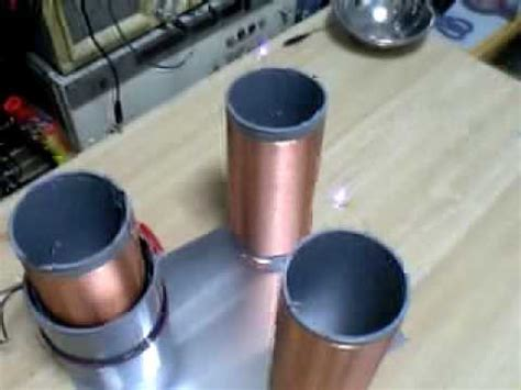 3v Tesla Coil Three Tesla Coils