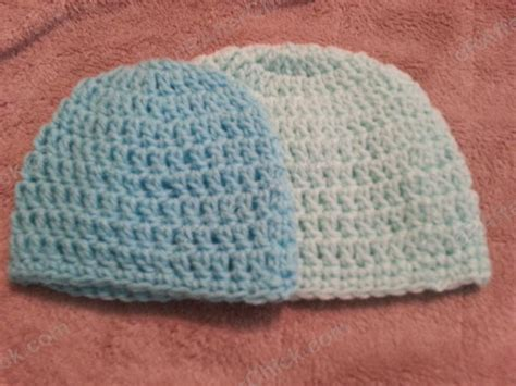 pattern crochet newborn beanie easy peasy baby infant sized 3 6 months double