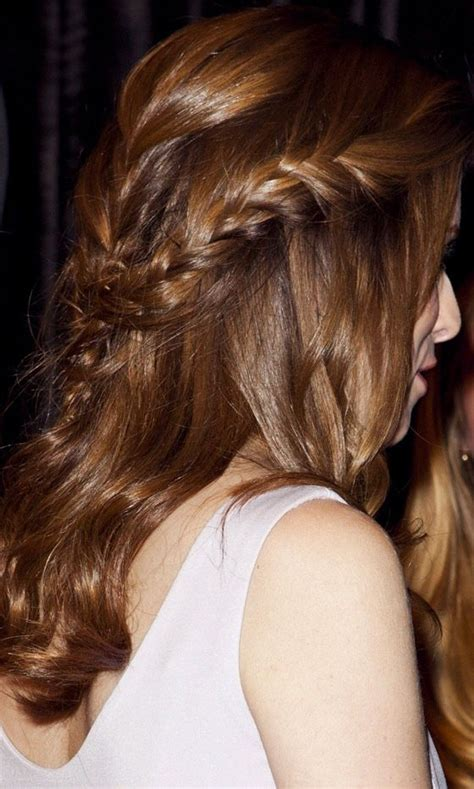hairstyles down with plaits the half up half down plait hairstyle hair envy pinterest