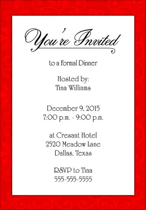 invitation template microsoft word formal invite template invitation template