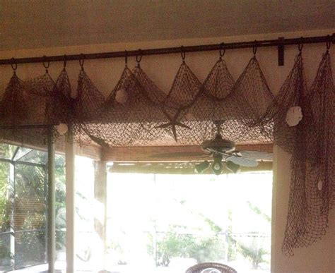 beach decor curtains easy fishing net curtains bonniejones128 beach decor