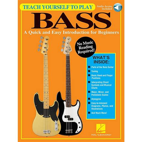 introduction to the bass books hal leonard teach yourself to play bass a easy