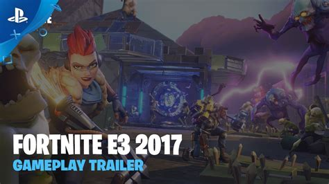 Fortnite   Gameplay Trailer   PS4   YouTube