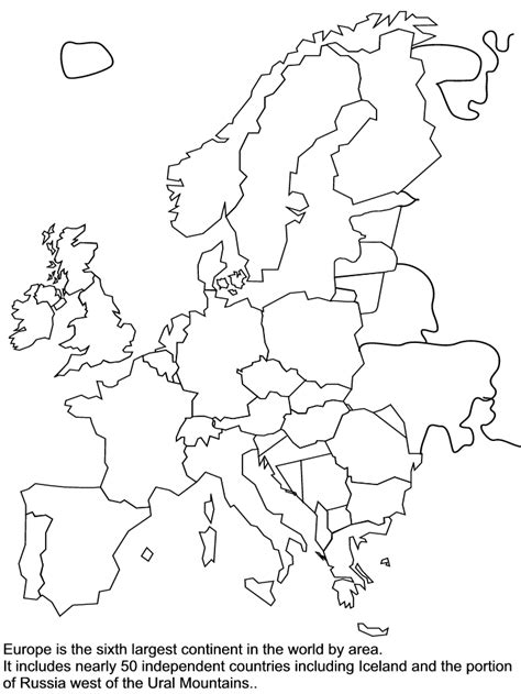 map of europe colouring europe coloring map coloring home