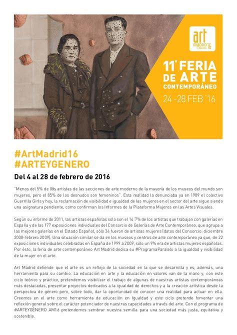 programa de artistas programas del departamento de arte programa arte y g 233 nero