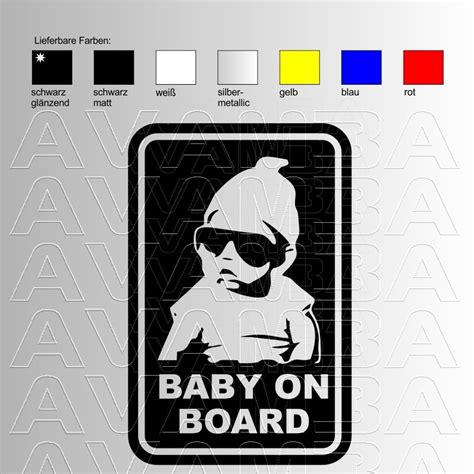 Coole Baby On Board Aufkleber by Autoaufkleber Autosticker Baby On Board Avamba Oldtimer