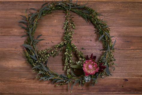 lighted peace sign wreath mr kate diy peace wreath
