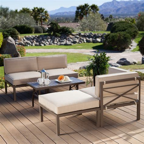 Patio Sofa Sets by To It Coral Coast Bellagio 5 Aluminum