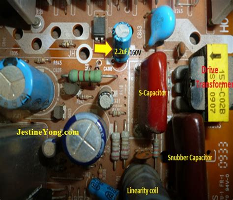 capacitor de tv lg 14inch lg television dead now repaired electronics repair and technology news