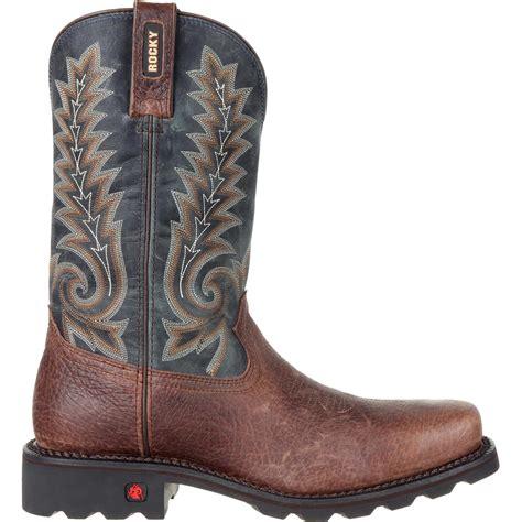 comfortable western boots rocky gunnison men s comfortable steel toe waterproof