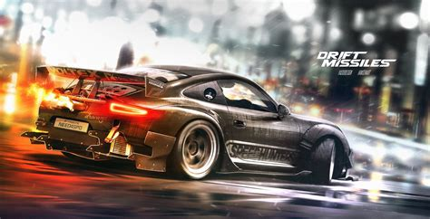 drift porsche porsche 911 rendered as awesome drift missile with nfs