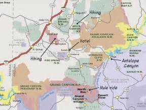 utah arizona map utah arizona and slot canyons