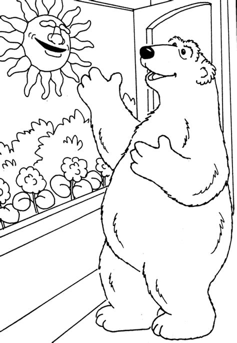 coloring pages big house bear the big blue house coloring home
