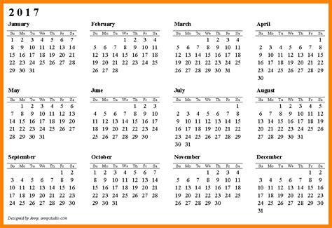 printable planner 2017 pdf 7 printable 2017 calendar pdf lease template