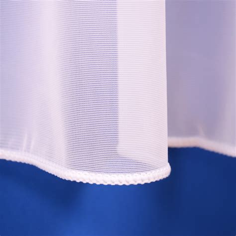 weighted voile curtains sue plain lead weighted voile net curtain in white or