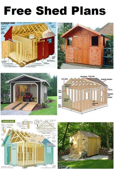 shed plans  pinterest storage sheds backyard sheds