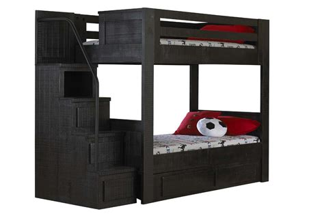 black bunk beds black bunk bed with staircase