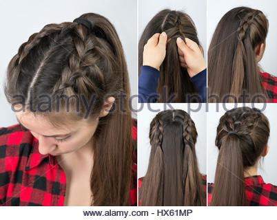simple and easy braided hairstyles step by step simple hairstyle pony tail tutorial for woman hairstyle