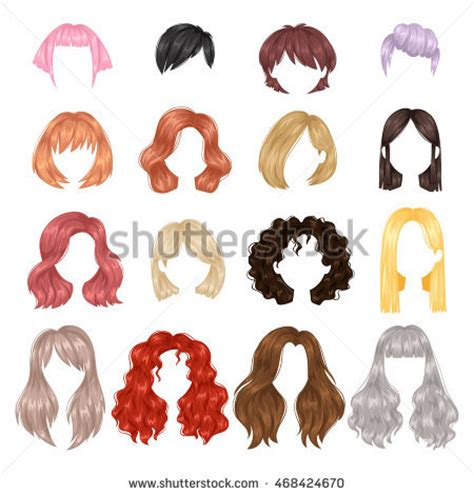 cute hairstyles vector hairstyle stock photos royalty free images vectors