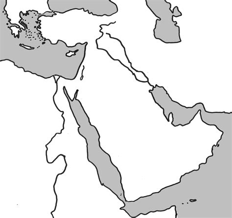 middle east map empty blank middle east map my