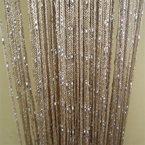 thread curtains online tangpan 100cmx200cm rare flat silver ribbon door string