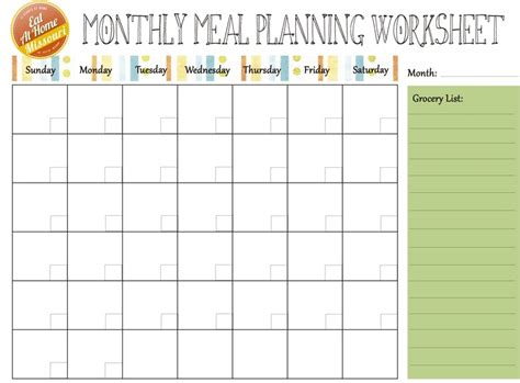 meal planning calendar template free monthly meal planner website resources