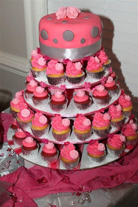 Wedding ?Pink & Silver ? Cupcake Tree   Weddingbee Photo