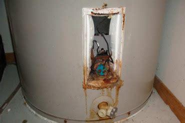 water heater leaking from bottom rust water heaters blue sky plumbing 24 plumber in