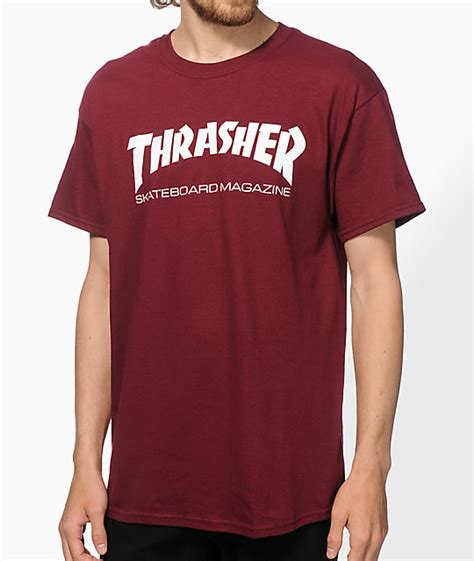 Kaos Thrasher Thrasher Tees Thrasher Tshirt Thrasher 6 thrasher skate mag t shirt zumiez