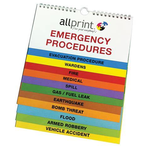emergency wall flip charts