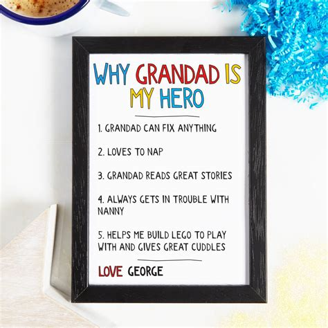 10 I And Why by Personalised Why Grandad Is My Print By