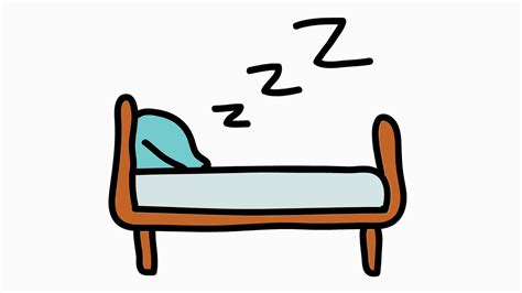 animated bed sleep bed hand drawn color animation with transparent