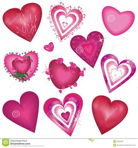 Decorative Hearts by Set Of Beautiful Decorative Hearts Stock Image Image