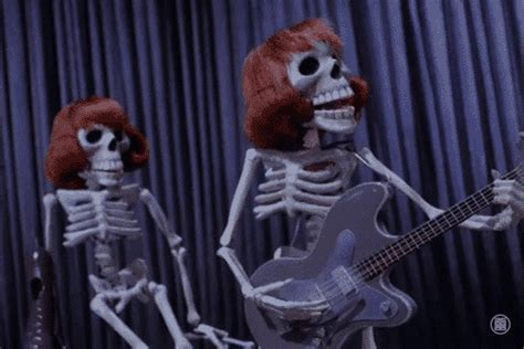 scary animated halloween gifs rock band halloween gif find share on giphy