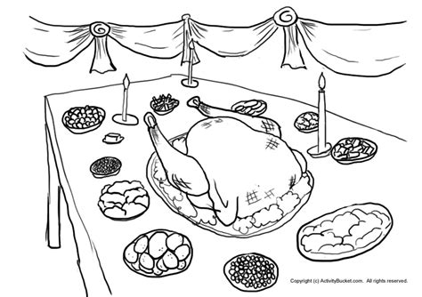 coloring page of thanksgiving dinner thanksgiving dinner coloring pages sketch coloring page