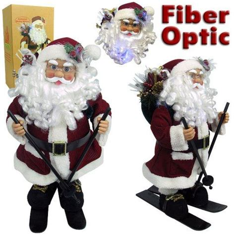 trademark 80 5000 animated skiing santa claus with fiber