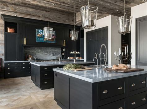 Rustic Black Kitchen Cabinets Interior Design Ideas Home Bunch Interior Design Ideas