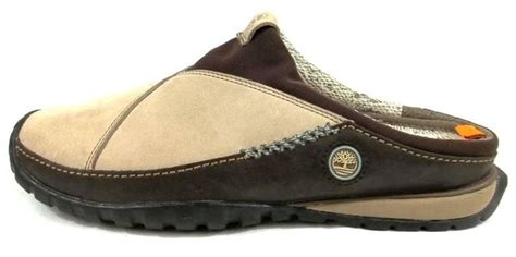 Timberland Tbl14479jsb07 Beige Brown Leather timberland smartwool shoes beige leather slip on clog loafers mens size 10 m brown leather