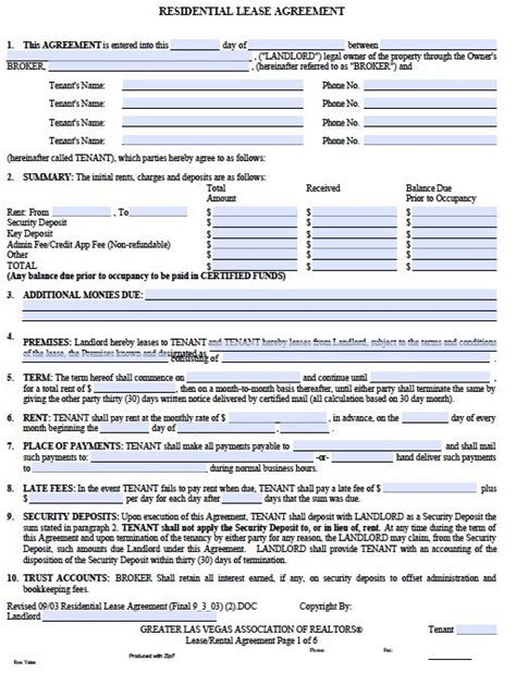 download lease agreement template tenancy agreement template pdf