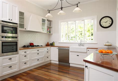 Shaker Kitchen Ideas with Colonial Queenslander Kitchen Design Brisbane Timber Kitchen Benchtops Shaker Style