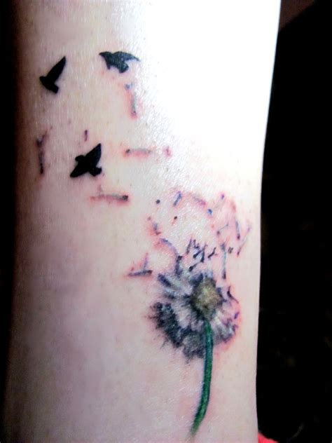 dandelion and birds tattoo by fenrirofparadise on deviantart