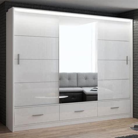 white gloss  door  cm width sliding door wardrobe