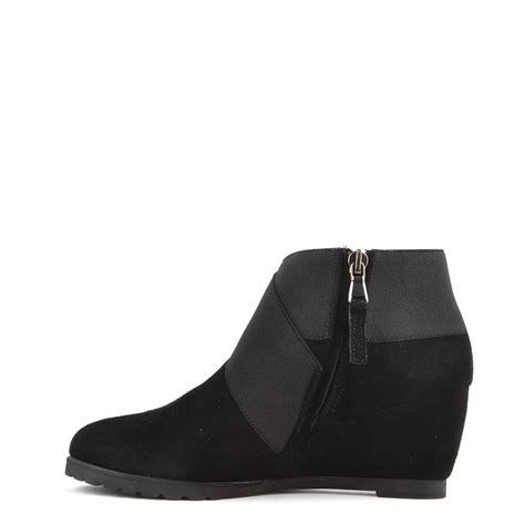 elia b glove black suede wedge ankle boot