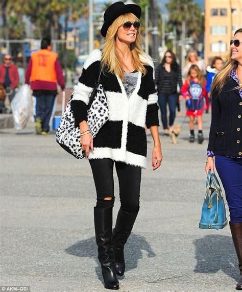 40 yesr old fashion and style monochrome madness heidi klum tries out a fashion forward
