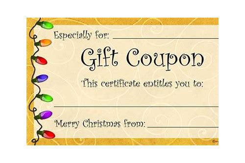 christmas gift coupon template