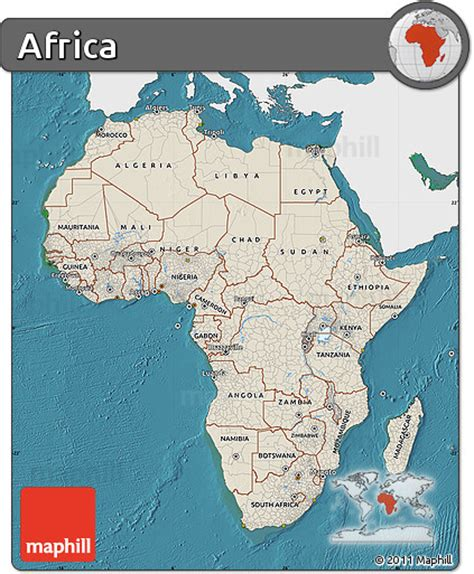 africa map sea free shaded relief map of africa single color outside