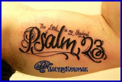 psalm 23 4 tattoo wallpaper best cool wallpaper hd download