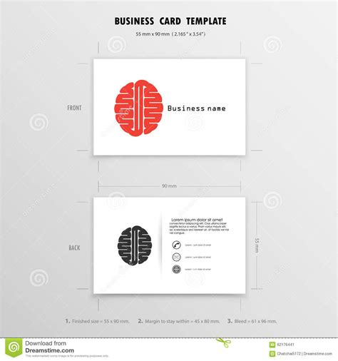name card size template abstract creative business cards design template stock